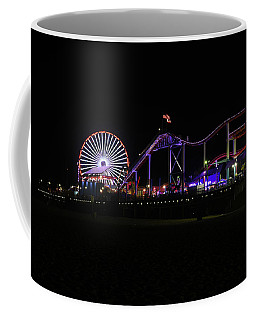 Santa Monica Pier At Night Coffee Mug