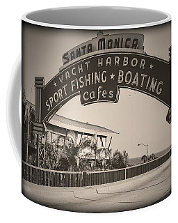 Santa Monica Sign Series Modern Vintage Coffee Mug