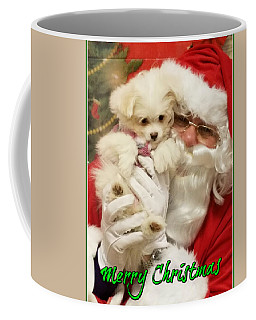 Coffee Mug featuring the painting Santa Paws  by Darren Robinson