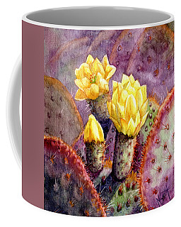 Coffee Mug featuring the painting Santa Rita Prickly Pear Cactus by Marilyn Smith