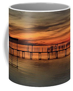 Santa Rosa Sound Sunset Silhouettes Panoramic Coffee Mug