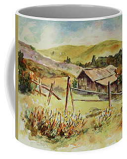 Coffee Mug featuring the painting Santa Teresa County Park California Landscape 4 by Xueling Zou