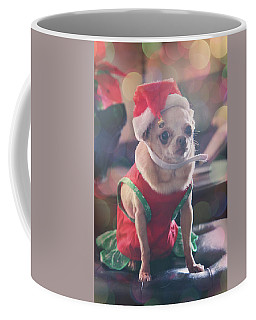 Coffee Mug featuring the photograph Santa's Little Helper by Laurie Search