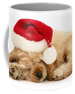 Santa's Sleepy Spaniel Coffee Mug