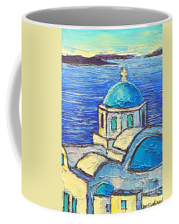 Santorini  Blue Coffee Mug