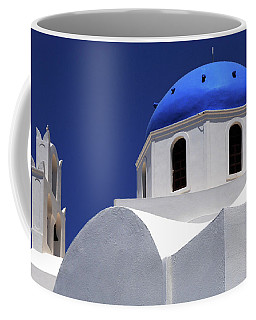 Coffee Mug featuring the photograph Santorini Greece Architectual Line 2 by Bob Christopher