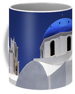 Santorini Greece Architectual Line 2 Coffee Mug by Bob Christopher