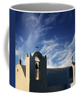 Coffee Mug featuring the photograph Santorini Greece Architectual Line 3 by Bob Christopher