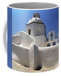Coffee Mug featuring the photograph Santorini Greece Architectual Line 4 by Bob Christopher