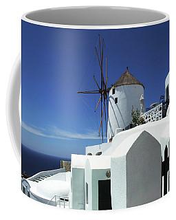 Santorini Greece Architectual Line 5 Coffee Mug by Bob Christopher