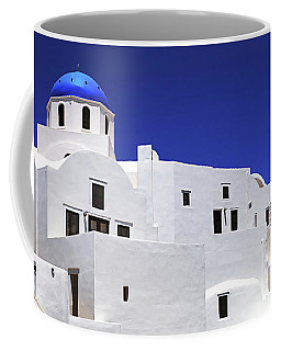 Coffee Mug featuring the photograph Santorini Greece Architectual Line 6 by Bob Christopher