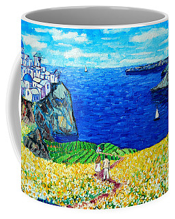 Santorini Honeymoon Coffee Mug