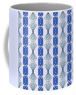 Sapphire Deco Stripe Coffee Mug