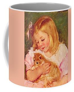 Sara Holding A Cat Coffee Mug