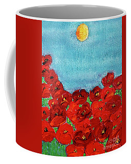 Sarah's Poppies Coffee Mug