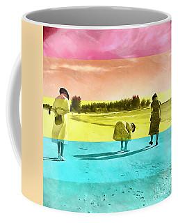 Coffee Mug featuring the painting Sarasota Series Beachcombers by Edward Fielding