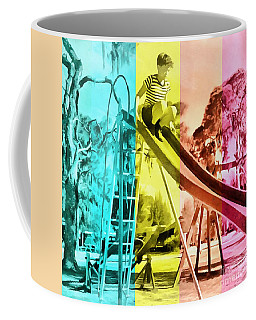 Coffee Mug featuring the painting Sarasota Series Trailer Park Playground by Edward Fielding