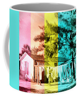 Coffee Mug featuring the painting Sarasota Series Wash Day by Edward Fielding