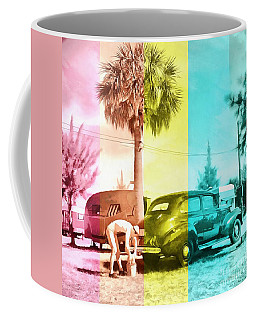 Coffee Mug featuring the painting Sarasota Series Wash The Car by Edward Fielding