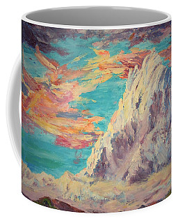 Sarcantay Mountain The Untamed One Cusco Peru Coffee Mug by Anastasia Savage Ealy
