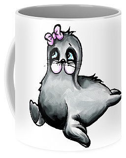 Coffee Mug featuring the digital art Sassy Seal by Lizzy Love
