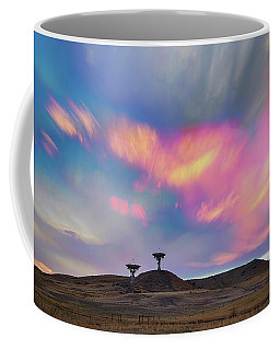 Coffee Mug featuring the photograph Satellite Dishes Quiet Communications To The Skies by James BO Insogna