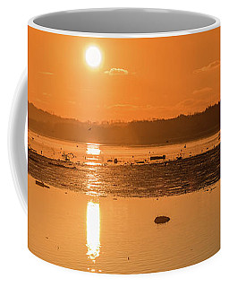 Saturday Morning Along The Estuary Pano Coffee Mug by Martina Fagan