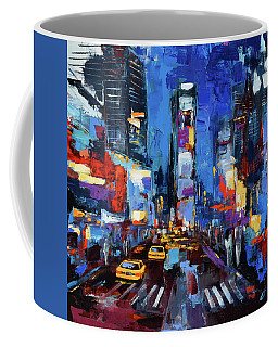Saturday Night In Times Square Coffee Mug