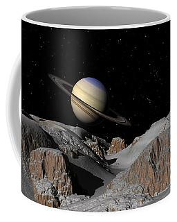 Saturn From The Moon Dione Coffee Mug