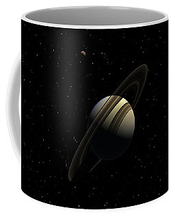 Saturn With Titan Coffee Mug
