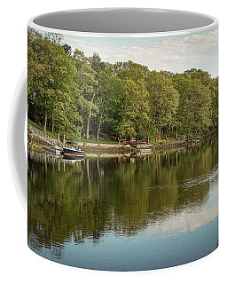 Coffee Mug featuring the photograph Saugatuck River - Westport By Mike-hope by Michael Hope