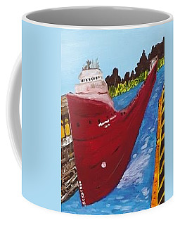 Sault Ste Marie Michigan Locks Coffee Mug by Jonathon Hansen