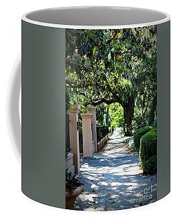 Savannah Sidewalk With Magnolia Tree Coffee Mug