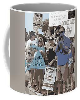 Coffee Mug featuring the digital art Save Our Lagoon by Megan Dirsa-DuBois