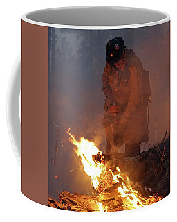 Sawyer, North Pole Fire Coffee Mug by Bill Gabbert