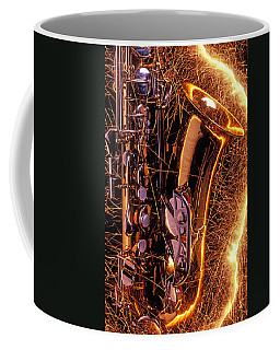 Sax With Sparks Coffee Mug