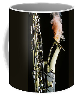 Saxophone With Smoke Coffee Mug
