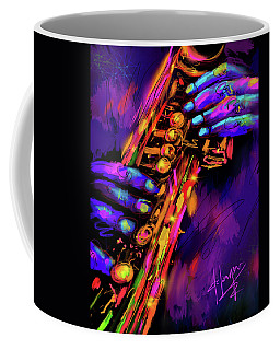 Saxy Hands Coffee Mug