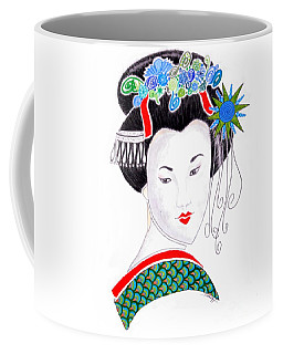 Sayaka -- The Original -- Portrait Of Geisha Girl Coffee Mug