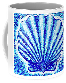 Coffee Mug featuring the painting Scallop by Monique Faella