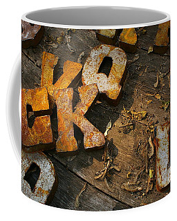 Coffee Mug featuring the photograph Scamble Letters by Randy Pollard