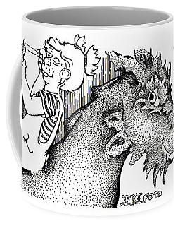 Scared Um Off Fpi Cartoon Coffee Mug