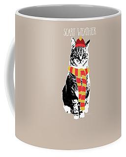 Scarf Weather Cat- Art By Linda Woods Coffee Mug