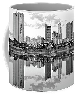 Coffee Mug featuring the photograph Scarlet And Columbus Gray by Frozen in Time Fine Art Photography