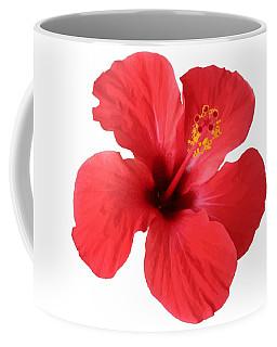 Scarlet Hibiscus Tropical Flower  Coffee Mug