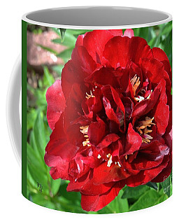 Scarlet Peony Coffee Mug by Marsha Heiken