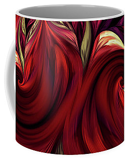 Coffee Mug featuring the digital art Scarlet Red by Deborah Benoit