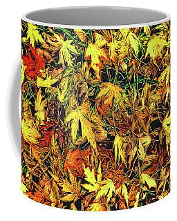 Scattered Autumn Leaves Coffee Mug