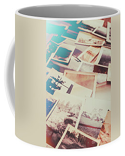 Scattered Collage Of Old Film Photography Coffee Mug by Jorgo Photography - Wall Art Gallery