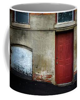 Scattered Light On Basement Door Coffee Mug